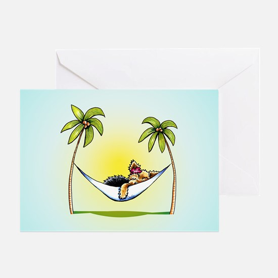 Yorkie Island Princess Greeting Card