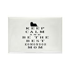 Keep Calm Komondor Designs Rectangle Magnet