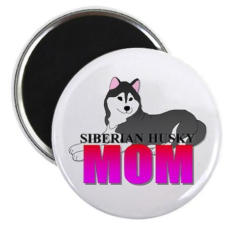 """Siberian Husky Mom 2.25"""" Magnet (100 pack)"""