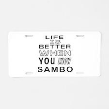 Sambo Martial Arts Designs Aluminum License Plate