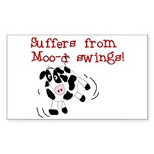 Moo-d Swings Rectangle Decal