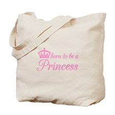 Born to be a princess, text design with pink crown