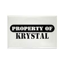 Property of Krystal Rectangle Magnet