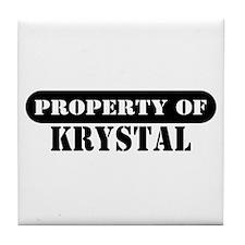 Property of Krystal Tile Coaster