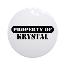 Property of Krystal Ornament (Round)