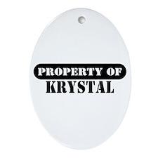 Property of Krystal Oval Ornament