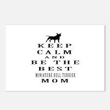 Keep Calm Miniature Bull Terrier Designs Postcards