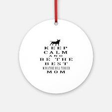 Keep Calm Miniature Bull Terrier Designs Ornament