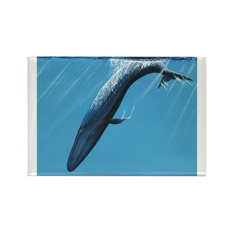 Diving Blue Rectangle Magnet (100 pack)