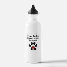 Havanese Dog Day Sports Water Bottle