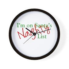 Santa's Naughty List Wall Clock