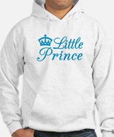 Little prince, text design with blue crown Hoodie