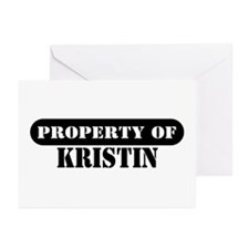 Property of Kristin Greeting Cards (Pk of 10)