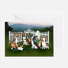 Mountain Garden Chihuahuas Greeting Card