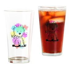 Snowcone Splash Westie Valentine Drinking Glass