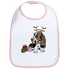 Basset Hound Christmas Bib
