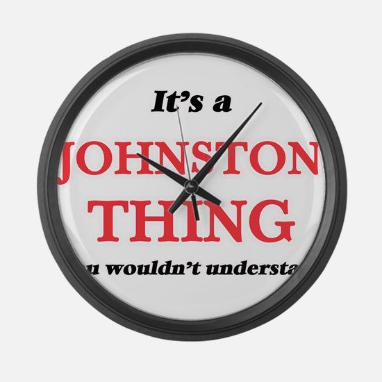 It's a Johnston thing, you wo Large Wall Clock