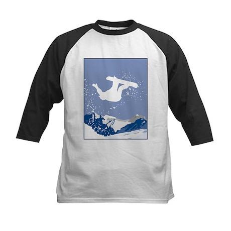 Snowboarding Kids Baseball Jersey