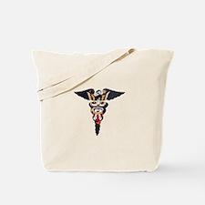Navy Caduceus Eagle Tote Bag