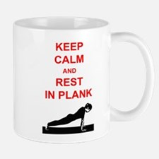 Keep Calm and Rest In Plank Mug