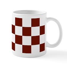 Brown and White Checkerboard Mug