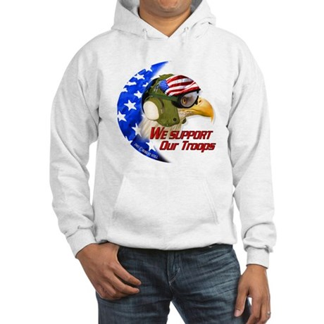 """American Carrier Eagle"" Hooded Sweatshirt"