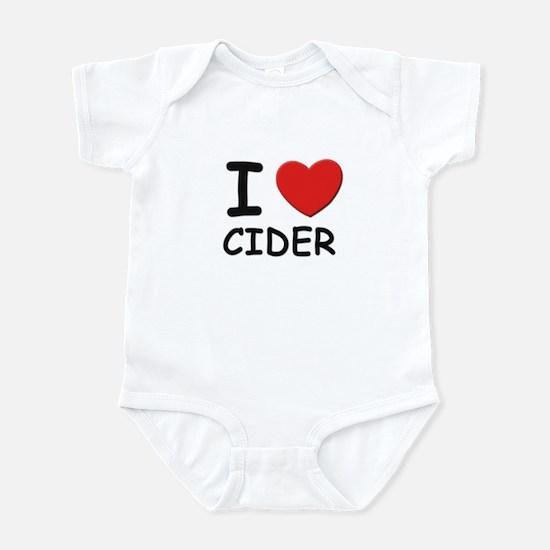 I love cider Infant Bodysuit