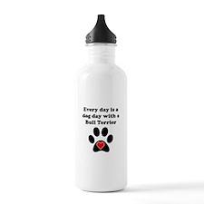 Bull Terrier Dog Day Sports Water Bottle
