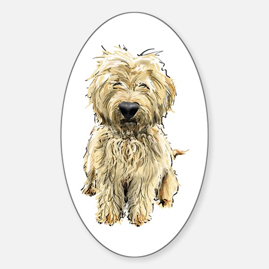 Goldendoodle Oval Decal
