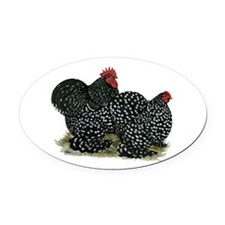 Cochins Mottled Pair Oval Car Magnet