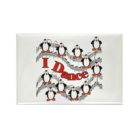 Penguin Dance Rectangle Magnet
