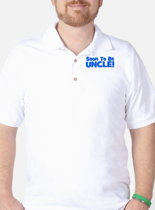 Soon To Be Uncle! Blue Golf Shirt