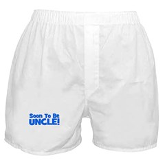 Soon To Be Uncle! Blue Boxer Shorts