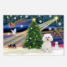 Xmas Magic & Bichon #2 Postcards (Package of 8)