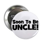 Soon To Be Uncle! Black Button