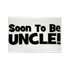 Soon To Be Uncle! Black Rectangle Magnet
