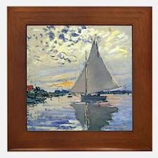 Funny Sailboat Framed Tile