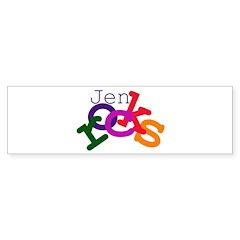 Jen rocks Bumper Bumper Sticker