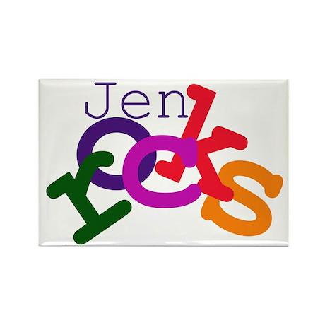 Jen rocks Rectangle Magnet (100 pack)