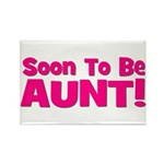 Soon To Be Aunt! Pink Rectangle Magnet