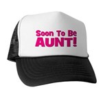 Soon To Be Aunt! Pink Trucker Hat