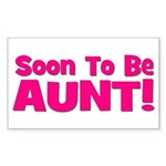Soon To Be Aunt! Pink Rectangle Sticker