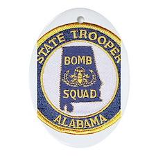 Alabama Bomb Squad Oval Ornament