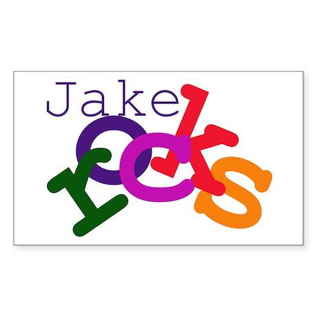 Jake Rocks Rectangle Sticker