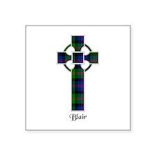 "Cross - Blair Square Sticker 3"" x 3"""