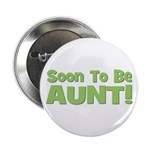 Soon To Be Aunt! Green Button
