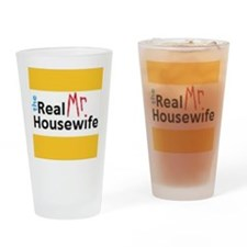 Real Mr. Housewife Drinking Glass