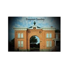 Evergreen Cemetery Gatehouse Rectangle Magnet