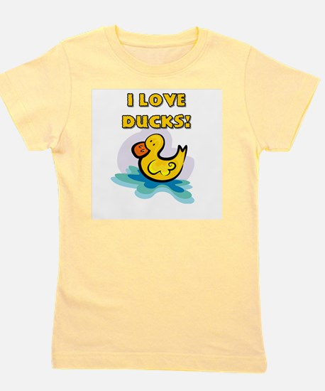 I Love Ducks Girl's Tee