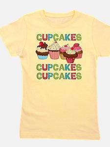 cupcakestimesthree.png Girl's Tee